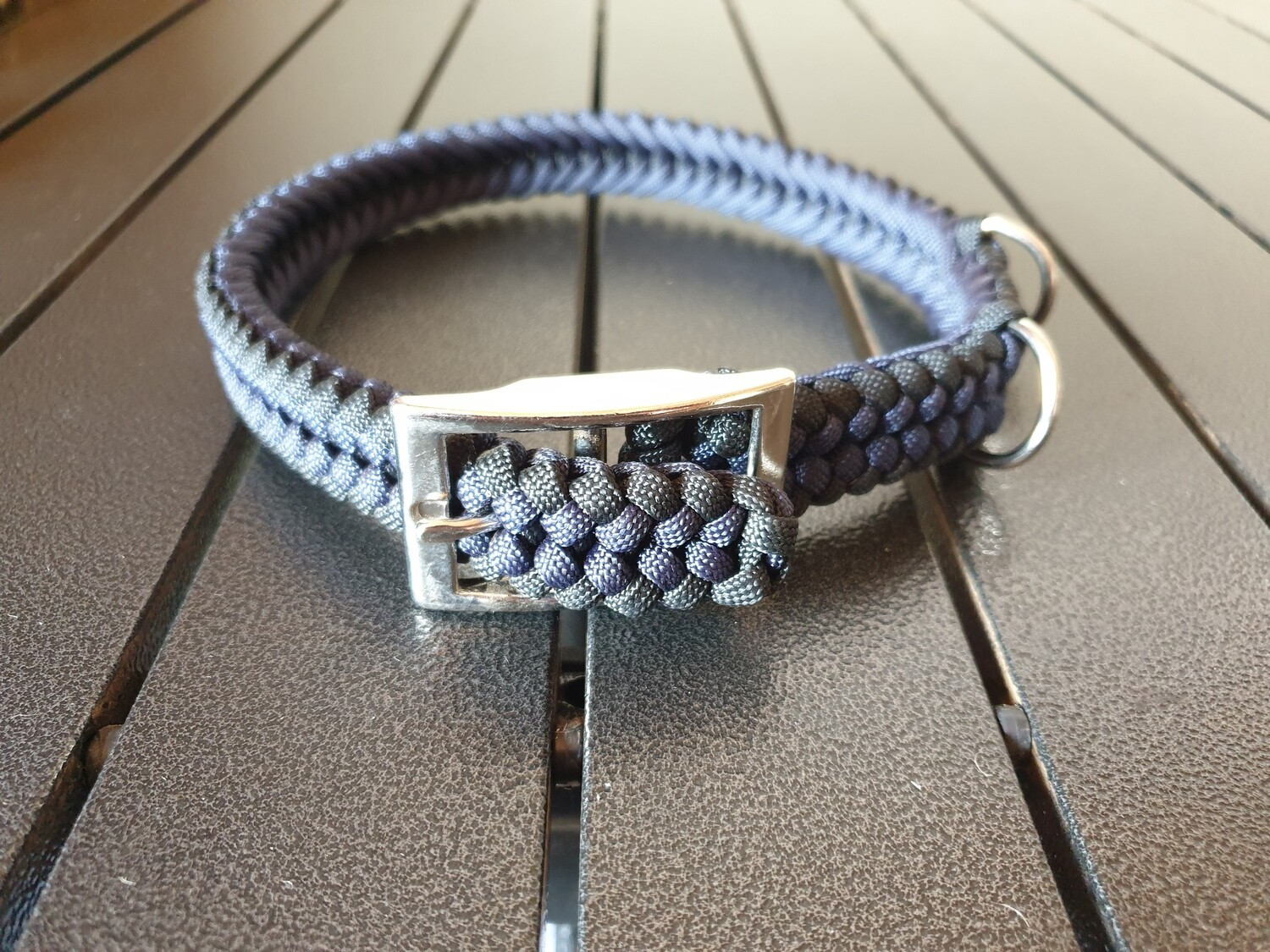 Navy and Black Medium Collar