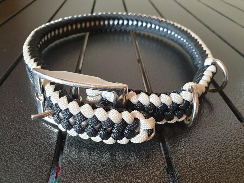 Sanctified Large White/Black Dog Collars