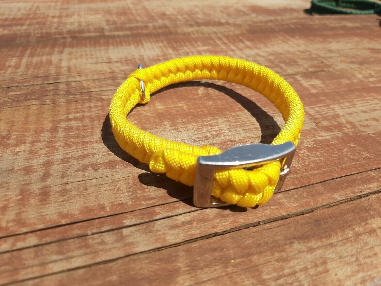 Yellow x-small dog collar
