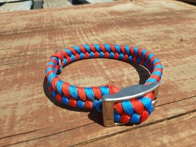 Red and Blue x-small dog collar
