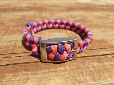 Pink and purple x-small dog collar