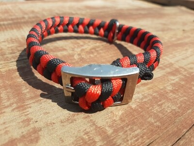 Red and Black x-small dog collar
