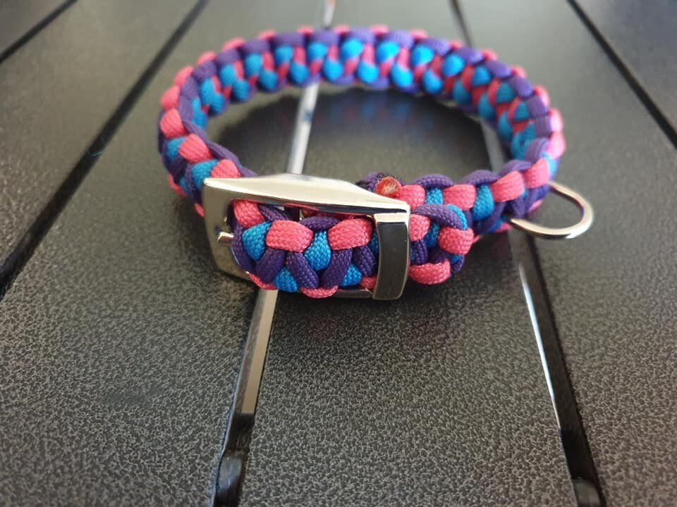 Pink, Blue and Purple Drakon Collar