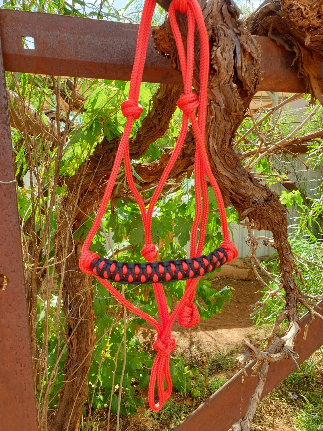 Red and Black Drakon Halter