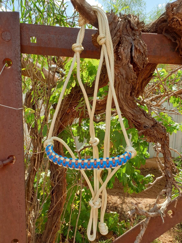Drakon Biege/Brown/Blue Rope Halter