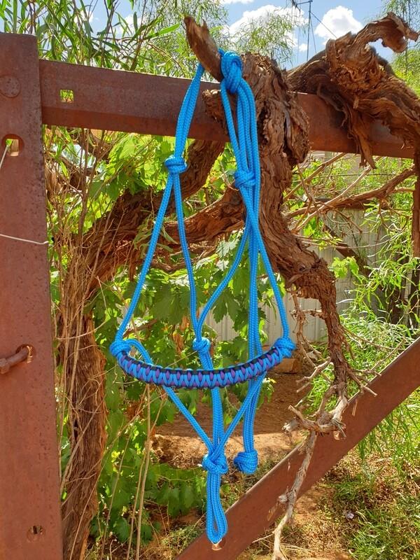 Drakon Blue/Purple/Black Rope Halter