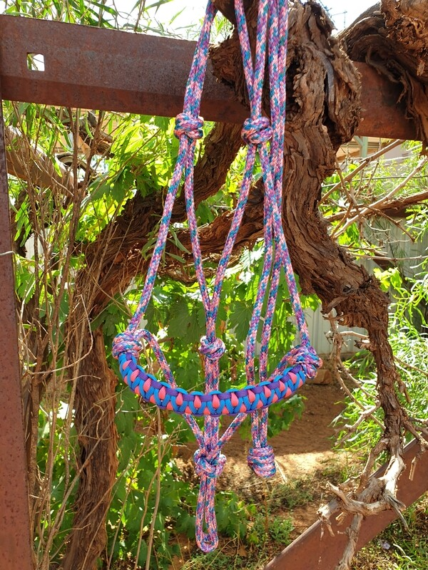 Drakon Unicorn/Purple/Pink/Blue Rope Halter
