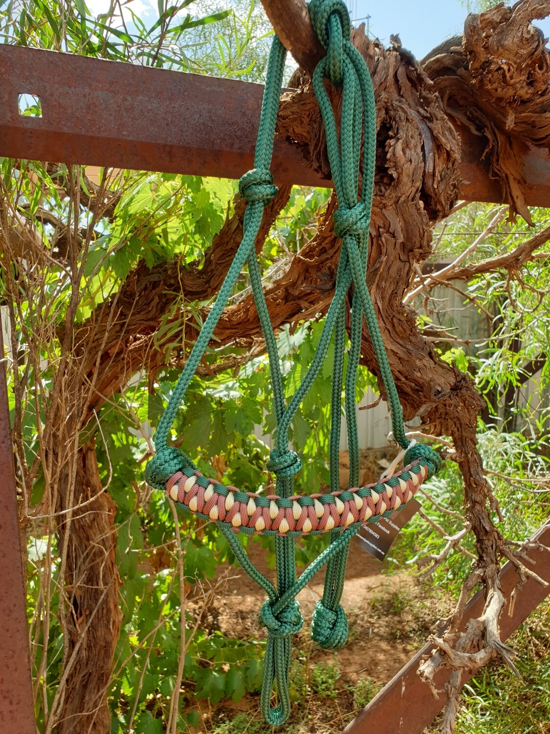 Drakon Hunter Green/Brown/Biege Rope Halter