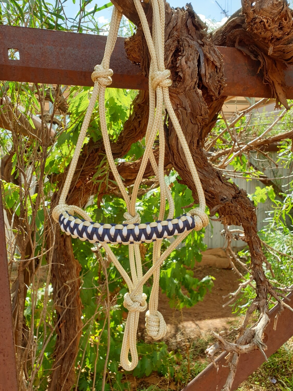 Drakon Biege/Navy/White Rope Halter
