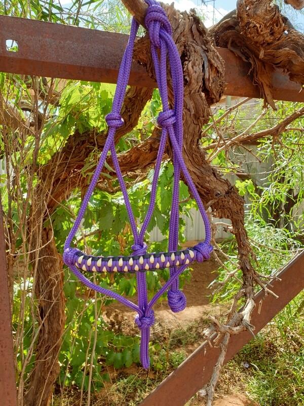 Drakon Purple/Black/Biege Rope Halter