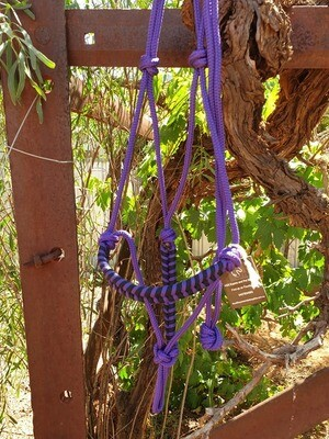 Aztec Purple/Black Rope Halter