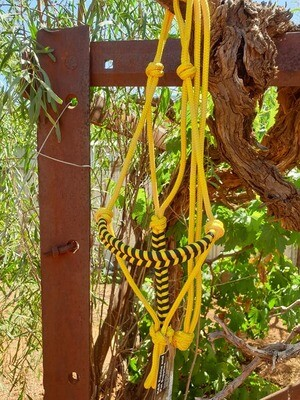Aztec Yellow/Black Rope Halter
