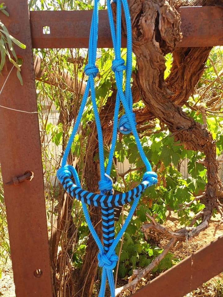Aztec Blue/Black Rope Halter