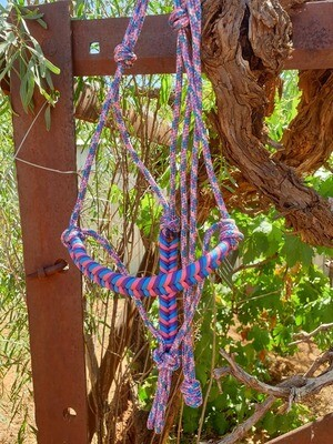 Aztec Unicorn/Blue/Pink/Purple Rope Halter