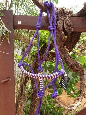 Purple and Biege Aztec Pony Halter