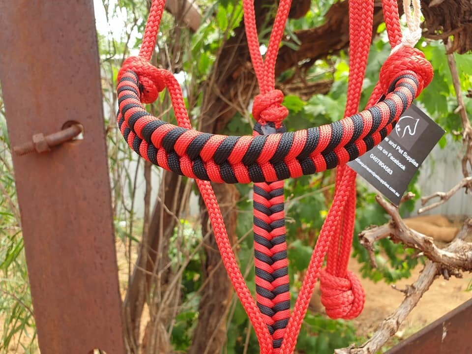 Red and Black Halter