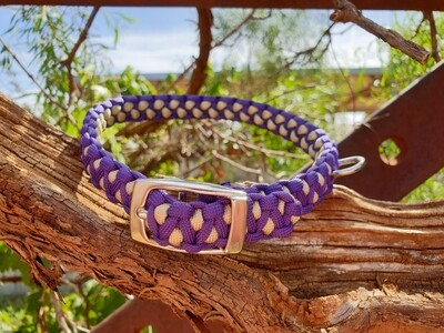 Purple and biege medium drakon collar
