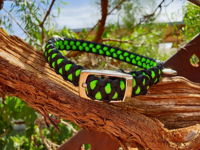 Black and lime medium drakon collar
