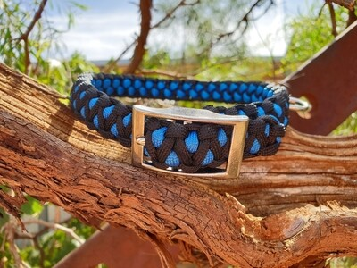 Blue and black medium drakon collar