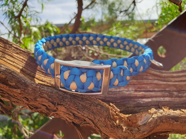 Blue and Biege medium drakon collar