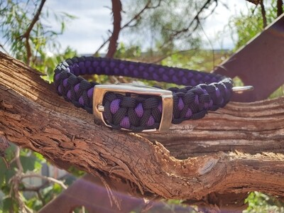 Purple and black medium drakon collar