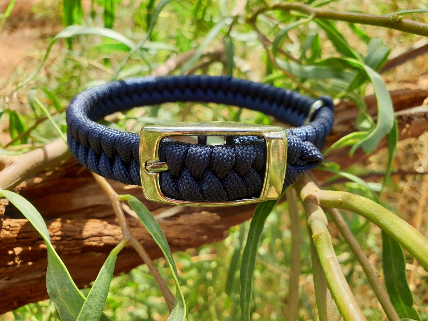 Navy x-small dog collar