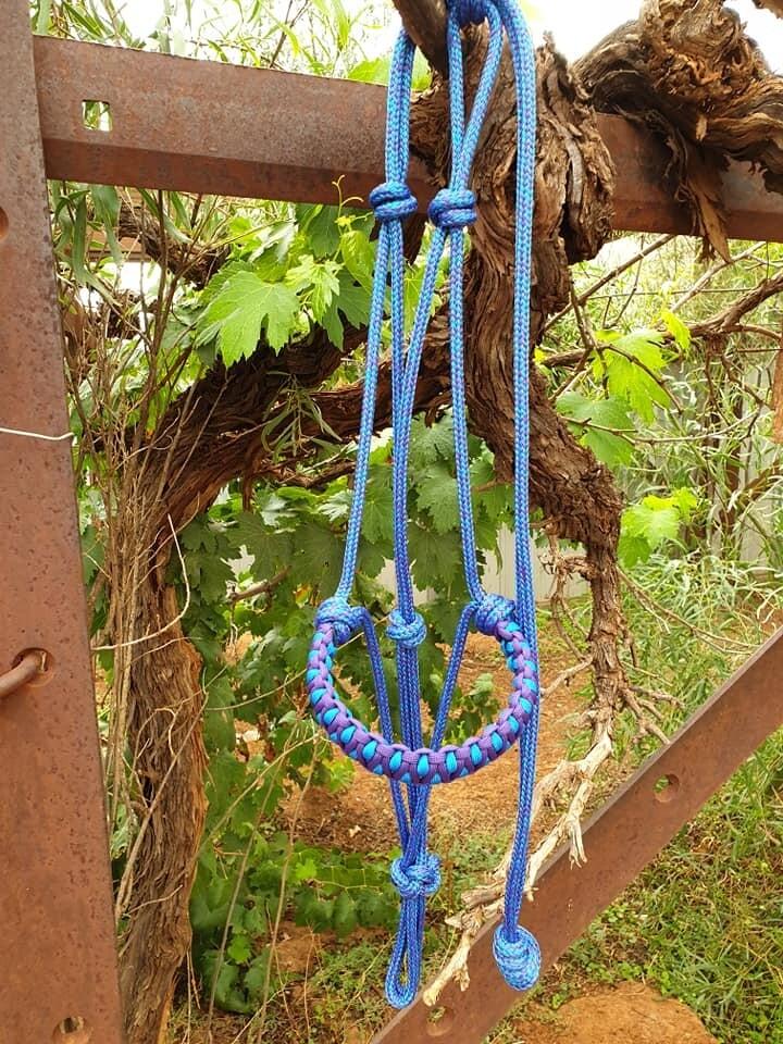 Drakon Mottled Blue/Purple Rope Halter