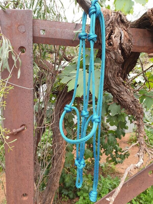 Mottled Green/Blue Rope Halter
