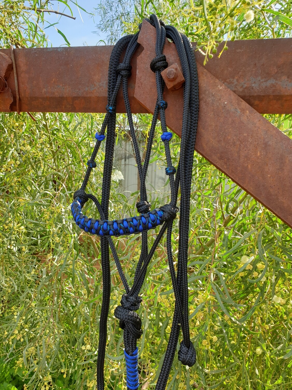Drakon Midnight Black/Blue Rope Halter