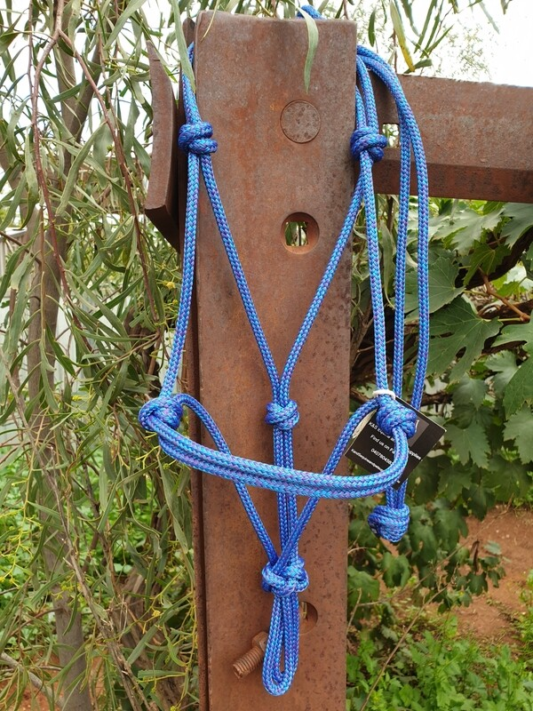 Mottled Blue/Purple Rope Halter