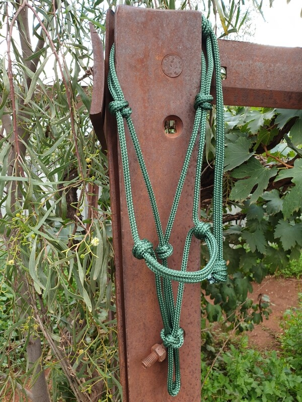 Hunter Green Rope Halter