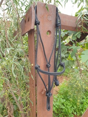 Black Rope Halter