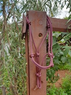 Burgundy Rope Halter