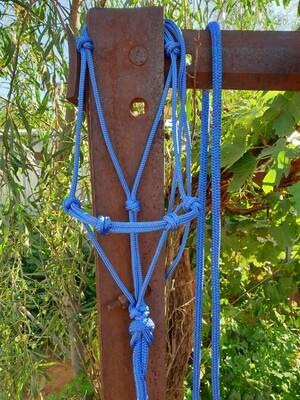 4 Knot Halter Mottled Blue/Purple