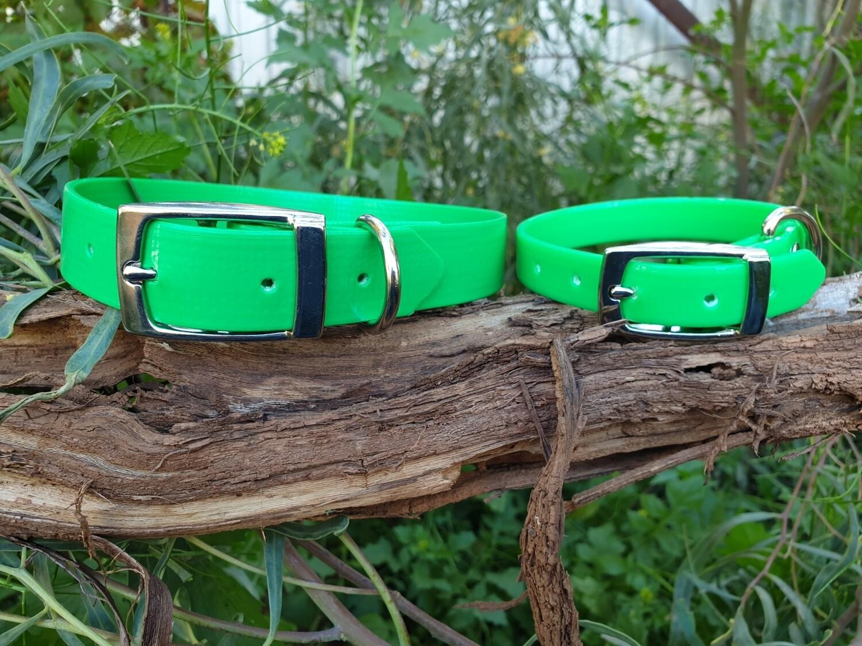 Lime PVC collar.