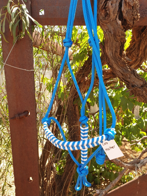 Aztec Blue/White Rope Halter