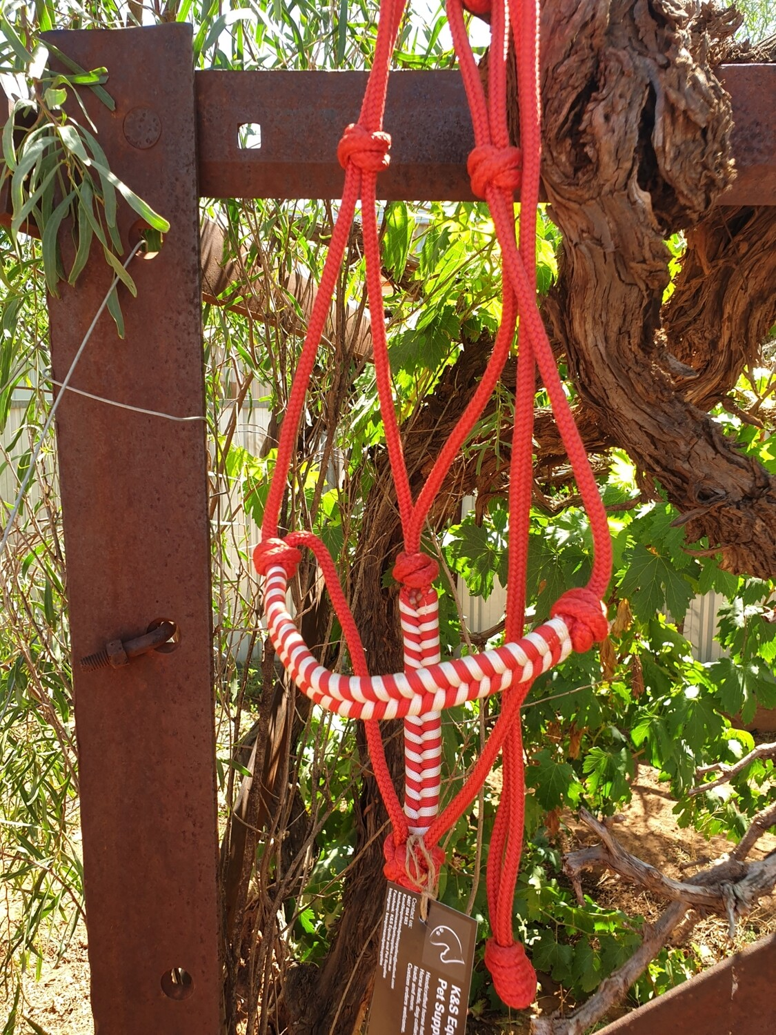 Aztec Red/White Rope Halter