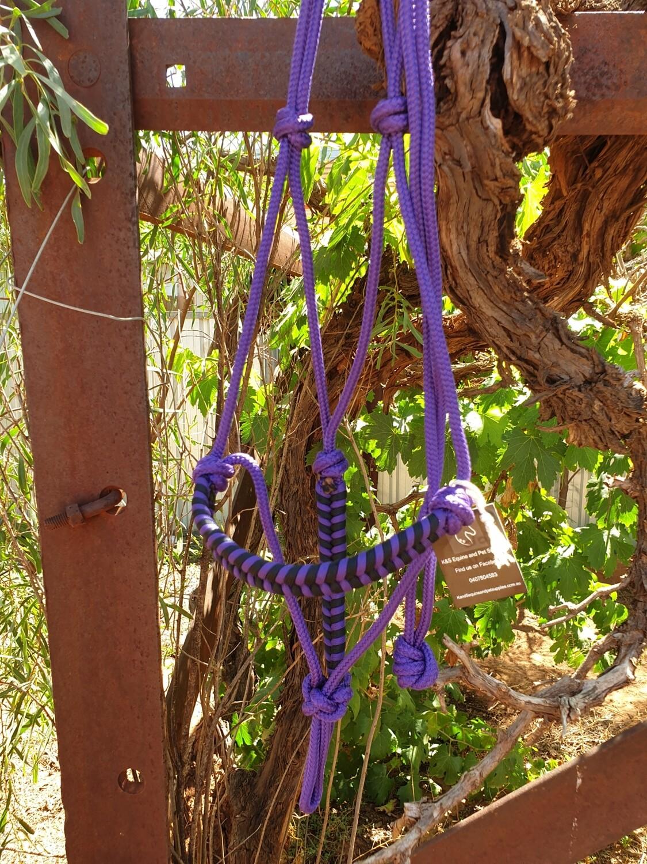 Aztec Purple/Black Rope Halter