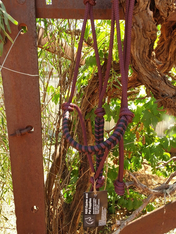 Aztec Burgundy/Black Rope Halter
