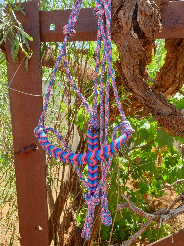 Aztec Unicorn Blue/Pink/Purple Rope Halter