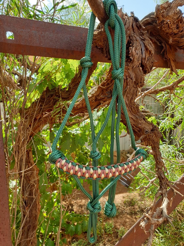 Drakon Hunter Green/Beige/Brown Rope Halter