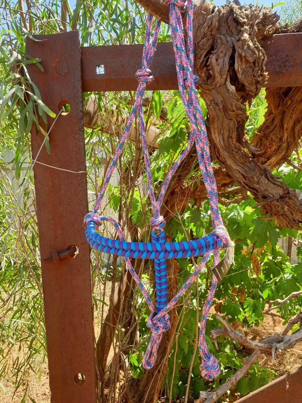 Aztec Unicorn Blue/Purple Rope Halter
