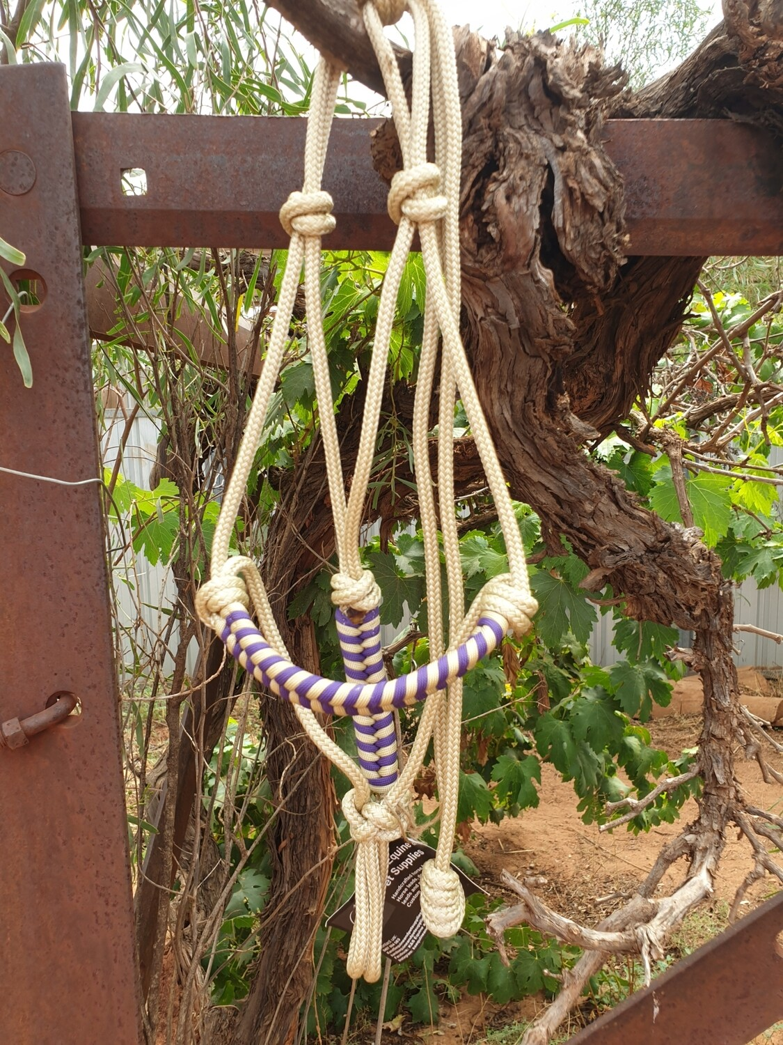 Aztec Beige/Purple Rope Halter