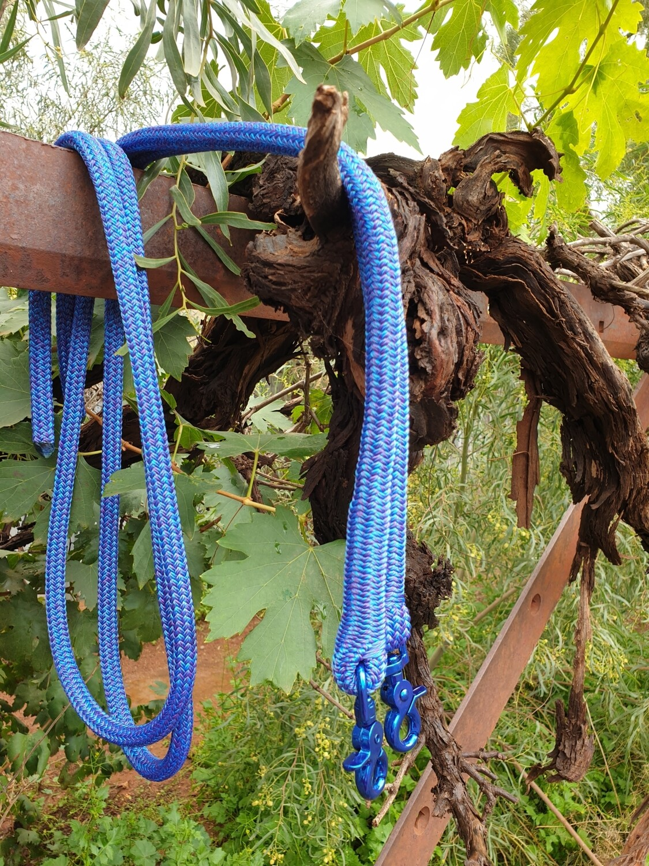 6ft Mottled Blue/Purple Split Rope Reins