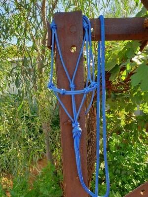 Mottled Blue/Purple Horse Lead