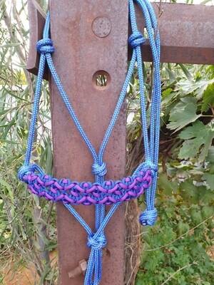 Neptune Mottled Blue/Purple Rope Halter