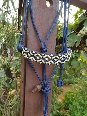 Neptune Navy/Beige Rope Halter
