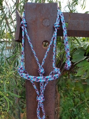 Aqua/Navy/Pink Rope Halter