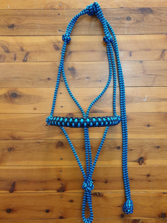 Drakon Black/Blue ZigZag Rope Halter