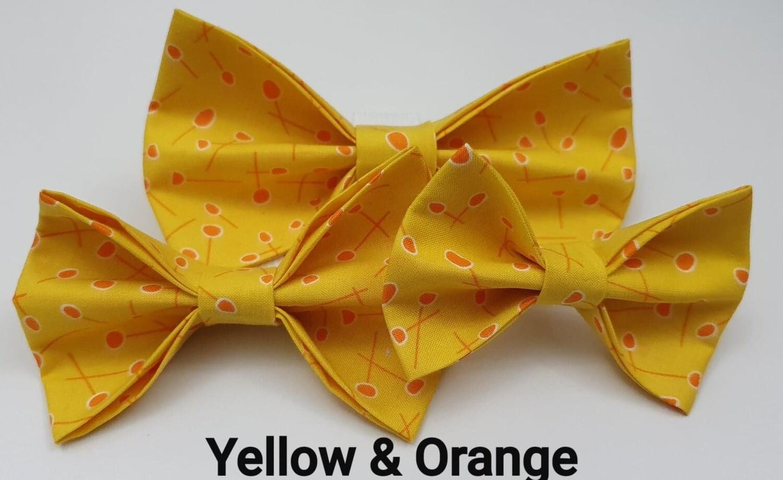 Yellow and Orange Bowtie